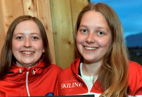 PÅ LANDSLAGET: Martine Vollan Rønning (t.v.) og Mille Haslev Nordbye fra Lillehammer utgjør halvparten av det norske landslaget.