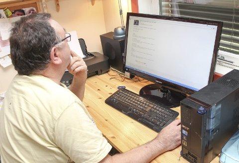 MÅ FORTSATT VENTE?: Avisen Hadeland skrev nylig om Kristian Nyhagen, som sliter med dårlig internettforbindelse i Tingelstad.