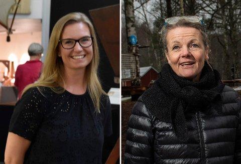 STARTER MED ELEVER: Hadeland Glassverk-direktør Stine Gjørtz (t.v.) og Kistefos-direktør Birgitte Espeland.