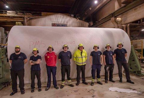 35 ansatte blir direkte berørt av nedleggelsen av PM5 på Saubrugs.