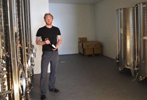 Gjæringsrommet: Her skal det bli plass til 42.000 liter, med endå større tankar i bakre del av rommet.
