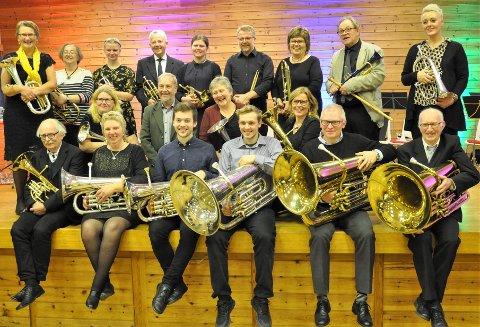 60-årsjubilanten Herand Musikklag med dirigent Arild B. Nielsen