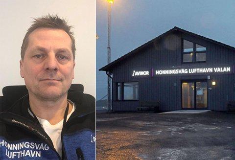 ØKER MEST: Honningsvåg lufthavn, her ved lufthavnsjef Ronny Andersen.