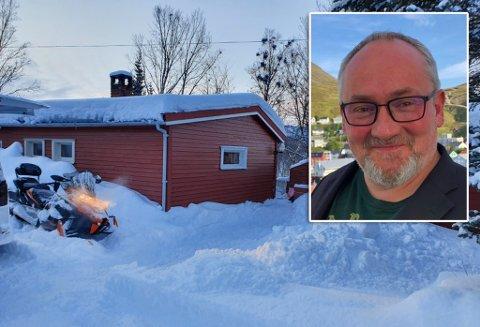 KJØPTE HYTTE: Ole Håvard Olsen kjøpte denne hytta på 50 m2, som har stue, kjøkken og soverom. På eiendommen er det også anneks.