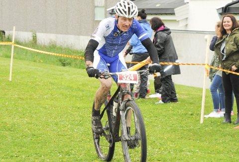 Deltar: Syklist Henrik Lie fra Høland.foto: trym helbostad