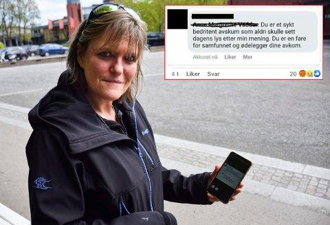 Anne Margrethe Vadder er sjokkert over hetsen.