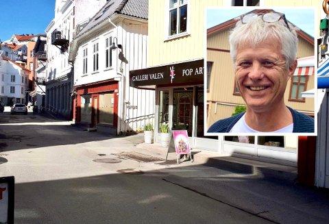 I GATA: Her skal Ole Bjørn Valen være i hele sommer - og vel så det. Foto: Privat / Innfelt foto: Marie Edholm Andresen