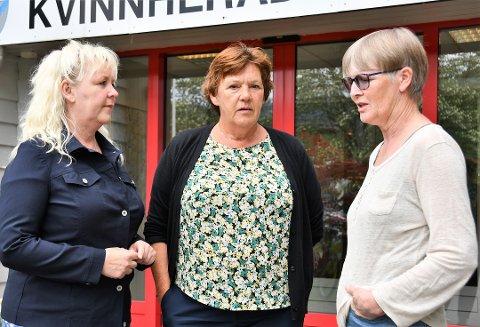– Det er viktig at alle blir sette og høyrde, meiner denne trioen av tillitsvalde i Utdanningsforbundet, f.v. Ingrid Grønstøl, Bodil Fjelstad Stoknes, og Atie Skarveland.