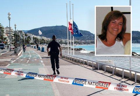 VAR I NICE: Anne-Gina Kristoffersen og familien var i Nice torsdag kveld da terrorangrepet ble utført.