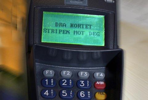 KKE-kortet som er misbrukt for ca. 16.000 kroner er brukt i fem forskjellige matbutikker i Kongsberg-området.