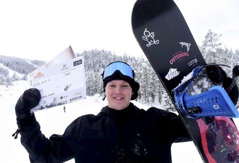 DEN EVIGE TOER: KIF-kjører Fredrik Ellingsen Kjærby ble andremann både i slopestyle og big air i norgescuprennet i Uvdal i helgen.FOTO: OLE JOHN HOSTVEDT