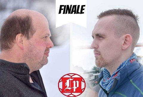 Finale: Ronny Johansen (44) og Kim Rune Sivertsen (23) møtes til finalen i Tippemesterskapet.