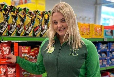 Butikksjefen på Kiwi Leknes, Marina Thomassen, har gjort en rekke ansettelser i det siste.
