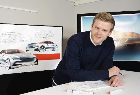 Neste mann ut: Geely har allerede lansert én bil i serien Lynk & co. Nå venter man i spenning på Armand Betzen og hans teams modell. Noe i likhet med skissene i bakgrunnen? Kanskje, i bilbransjen brukes det mye energi på å holde på hemmelighetene. foto: Geely design
