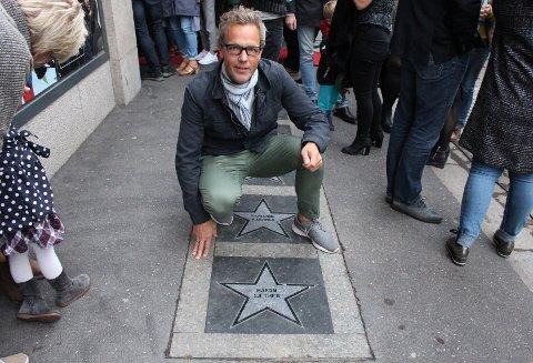 FOREVIGET: Håkon Sæther vil alltid ha sitt navn nedfelt i en stjerne ved Parkteatret.