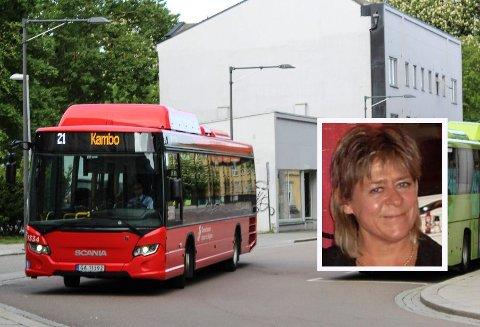 SPØRSMÅL: Astrid Årvik synes løsningen med billetter på bussen er vanskelig å forholde seg til.