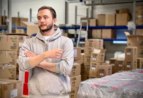 TILBAKE I JOBB: Tim Marius Kollerød legger ikke skjul på at det er spennende dager i vente på arbeidsplassen Handshake Norway.