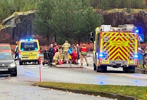 En rullestolbruker ble påkjørt i en fotgjengerovergang ved Vikatunellen i Namsos onsdag formiddag.