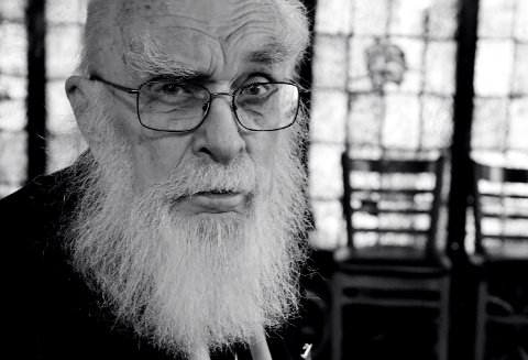 """LOS ANGELES, CA - MARCH 03:  (EDITORS NOTE: Image was shot in black and white. Color version not available.) Magician James Randi attends a special screening of """"An Honest Liar"""" at the Magic Castle on March 3, 2015 in Los Angeles, California.  (Photo by Kevin Winter/Getty Images)"""