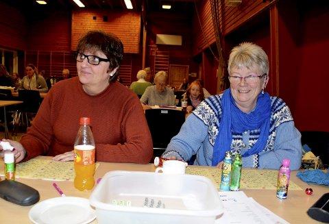 Bingo: Er triveleg og gir litt spenning i kvardagen tykkjer Grete Aasen (tv) og Eli Dahlen.