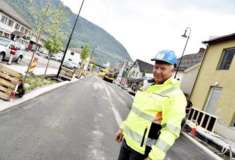 Åpning: Lørdag 29. juni blir det folkefest på Otta, opplyser fagleder for VA i Sel kommune, Bjørn Aabakken. Han mener ottaværene kan være stolt av den «nye» gata.