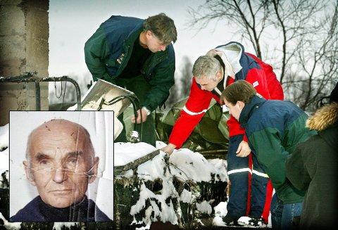 DRAPSGÅTE: Erling Eriksen (85) (innfelt) ble funnet drept i sitt eget, nedbrente hus på Breivikeidet i 2002. Nå tas den uløste drapssaken opp i TV 2s «Åsted Norge».
