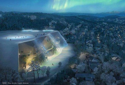 STORSTUE: Slik ser Svein Jentoft for seg det spektakulære flerbruks-anlegget han håper å få bygge på Valhall-tomta.