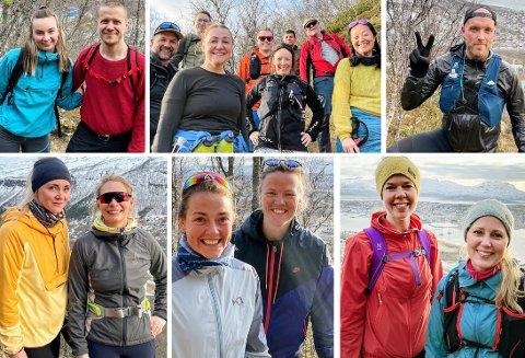 UT PÅ TUR: Her er bare noen av de mange som gikk den bratte og flotte turen opp Kløftebakken. Se alle bildene nedover i saken. Foto: Vetle Ravn Viken