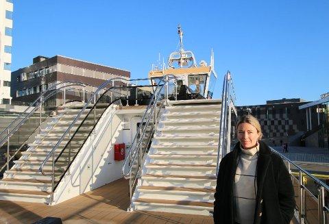 SPENT: Agnes Árnadóttir er daglig leder for selskapet Brim Explorer som eier båten med sammen navn. Hun er spent på oppstarten.