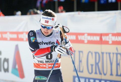 Ingvild Flugstad Østberg var nest best i kvalifiseringen, men røk overraskende ut i semifinalen i det innledende sprintrennet i Tour de Ski. Foto: Terje Pedersen / NTB scanpix