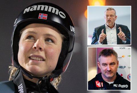 FÅR STØTTE: Maren Lundby setter pris på støtten sponsorene viser hopperne, og at de viser ryggrad overfor Skiforbundet.