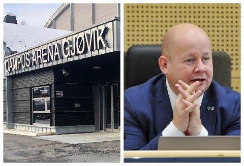 MÅ LÆRE: Ordfører i Gjøvik, Torvild Sveen, sender en oppstrammer til egen organisasjon etter utleien av Campus Arena til konfirmasjonstreff