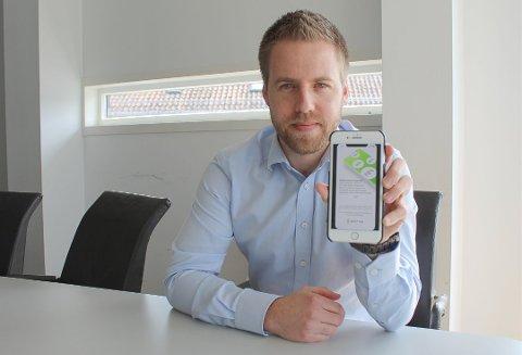 SNART KLAR: Bent Sondre Nielsen fra Larvik står bak appen Spot On som har som mål å redusere matsvinnet i Norge. Om alt går etter planen, lanseres appen i løpet av første kvartal i 2020. Foto: Arianit Selmani