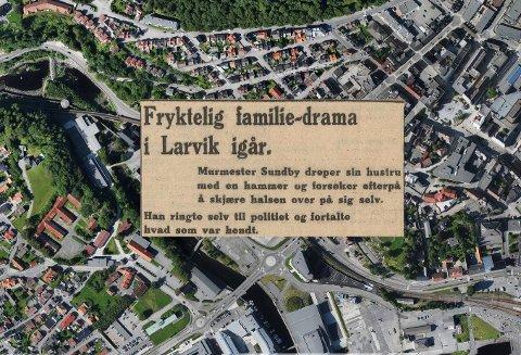 FAMILIETRAGEDIE: Sommeren 1932 var Larvik åsted for en forferdelig familietragedie.