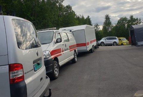 Rana Røde Kors rykket ut til Appelsinhaugen i Langneset mandag ettermiddag etter at en jente ble skadet på tur.