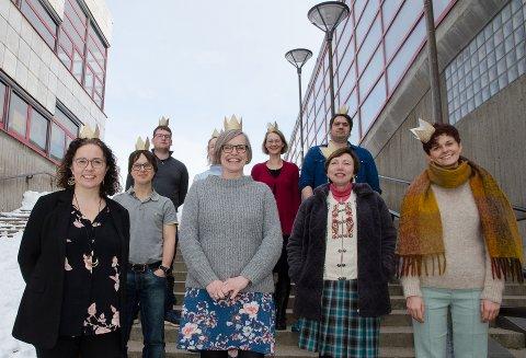 Bakerst fra venstre: Max Mikalsen, Ida Jørgensen, Julie Treimo, Trygve Larsen, Håvard Nordheim, Kristine Rønning, Marit Osmo, Elena Beck og Darya Katyba.