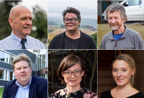 VINNER OG TAPER VELGERE: Syver Leivestad (H), Anita H. Gomnæs (Sp), Morten Dåsnes (SV), Jørn-Inge A. Frøshaug (Ap), Enid Berta (MDG) og  Nina Lauritzsen (Frp).