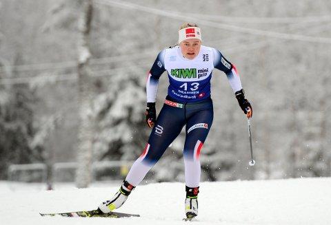 I FORM: Vilde Flatland gikk en god NM-sprint på Konnerud. Hun var bare fire sekunder unna å nå kvartfinalen.