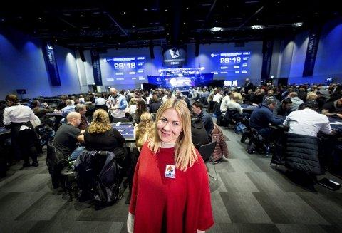 Til VM: Stine Bringsli fra Kløfta har vil bli beste nordman under poker-VM i Las Vegas. Foto: Lisbeth Andresen