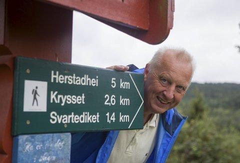 Ny marsj: 27 ganger før har det blitt arrangert Røykenmarsjen til Herstadhei. – Søndag er det marsj nummer 28, sier Karl Johan Andreassen i Herstadhei turisthytteforening.Arkivfoto
