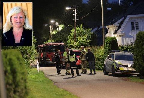 BANN I SANDEFJORD: Da ordføreren Bjørn Ole Gleditsch kom hjem fra et selskap natt til søndag oppdaget han brannen som politiet mener er påsatt.