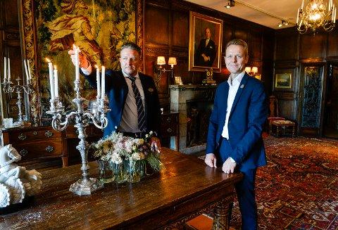 Atle Møller.                                                                                                                                                                                                   MIDTÅSEN: Morten Christensen, konserndirektør Unike Hoteller (t.h) og restaurantsjef Nicolai Girlando sørger for at deres hotellgjester får et personlig og eksklusivt opphold på Midtåsen.