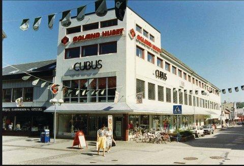 Slik så Øglænd-kvartalet ut da Cubus holdt til i bygget.