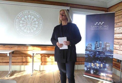 SPENT: Daglig leder i Sarpsborg næringsforening, Mariann Karlsen, er spent på hvordan de statlige støtteordninger slår ut for lokale bedrifter.
