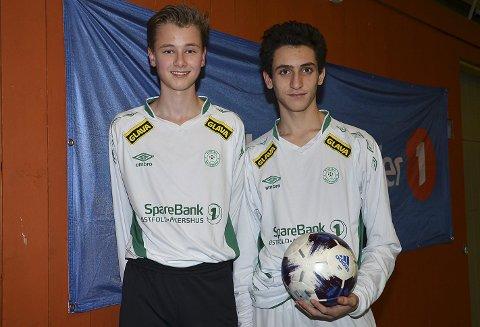 14 ÅR: Korsgård-spillerne Thorbjørn Linnerud og Yasan Mahmud er begge bare 14 år, men fikk likevel spilletid i Indre Østfold Cup.