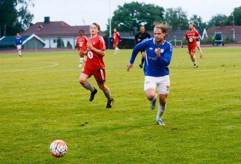 IKKE NOK: Karl Petter Nilsen scoret for Askim mot Sprint/Jeløy II, men det var ikke nok. Askim tapte 4-2.