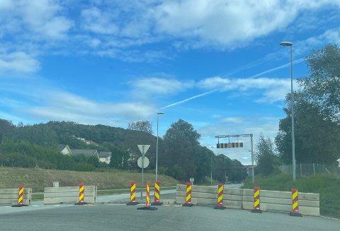 Veien er stengt.