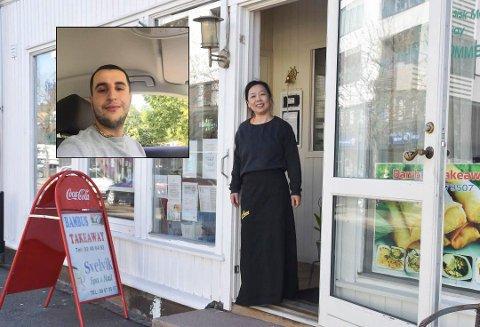 Yasin Celep (innfelt) har signert leiekontrakt hos Kimanh Le og tar over restaurantdriften med pizzarestaurant.