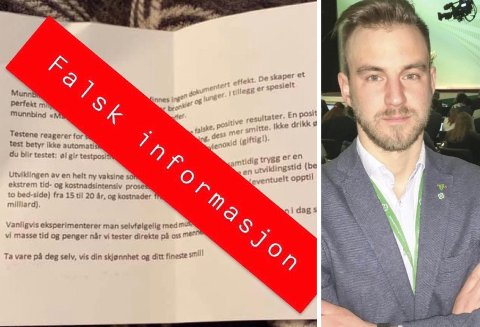 FALSK: Dette brevet har dukket opp i flere postkasser i Drangedal. Ordfører Tor Peder Lohne slår fast at brevet inneholder direkte falsk informasjon.
