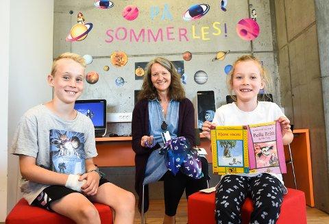 SOMMERLES: Aksel og Lilly Jøsendal Bårdseng er blant barna som har lest under årets Sommerles-kampanje.